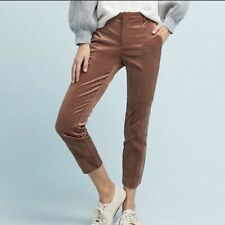 ANTHROPOLOGIE The Essential Slim Pant in Copper Velveteen Size 4