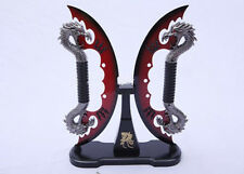 Double God dragon Sword Traditional Stainless Steel Blade Exorcise evil #4798