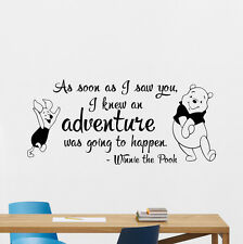 Winnie the Pooh Wall Decal Quote Vinyl Sticker Lettering Nursery Decor 254hor