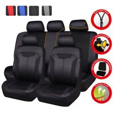 Universal Car Seat Cover Black Auto Seat Covers Airbag Compatible Breathable