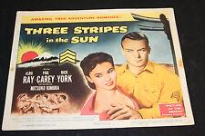 1955 Three Stripes in the Sun Lobby Card 55/291 Aldo Ray Phil Carey (C-5)