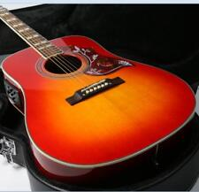 12 strings Electric Acoustic Guitar Solid Spruce Hummingbird Pickguard Cherry