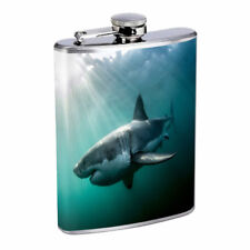 Sea Life D8 Flask 8oz Stainless Steel Hip Drinking Whiskey