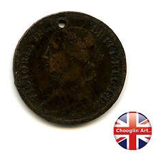 A 1886 British Bronze VICTORIA FARTHING Coin                    (Ref:1886_020/1)