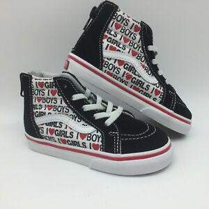 "Vans Toddlers Shoes ""Sk8-Hi Zip""(I Heart)Black/True White"