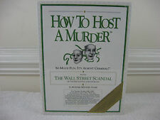 "How To Host A Murder ""The Wall Street Scandal"" Game 1991-New & Factory Sealed"