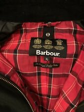 Barbour Ashby Wax Jacket XL Black