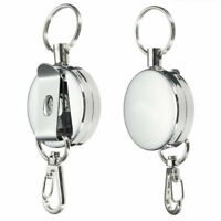 Lot Retractable Key Chain Reel Recoil Easy to Pull Keys Clip Belt Key-Ring E3B2