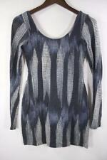 SASS AND BIDE 'MODERN STRIPES' COTTON LONG SLEEVE PATTERNED TOP Sz 8 (us 4)