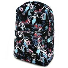 Loungefly Disney The Little Mermaid Ariel Cartoon Floral AOP Backpack WDBK0345