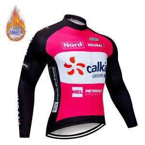 Bicycle Cycling Jersey Thermal Fleece Bib Pants Set Winter Long Jacket Pad Tight