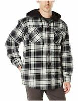 Wrangler Authentics Men's Long Sleeve Quilted Line Flannel, Black, Size Medium s