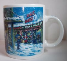 Starbucks Mug Coffee Cup Public Farmers Market Winter Christmas Snow Santa