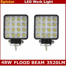 2X 48W LED Work Light FLOOD Light Off-Road ATV SUV Car Boat Truck Lamp 12V 24V