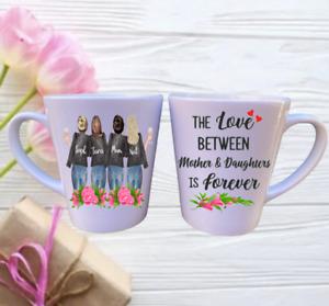 Mum Personalised LATTE Mug - Mum & Daughters - Four Person