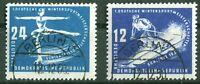 DDR 246 - 247 sauber gestempelt Berlin Wintersport 1950 mit Gummierung used