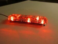 1/18 Flashing ALL RED LED Low Profile Lightbar for Custom Police Diecast Models