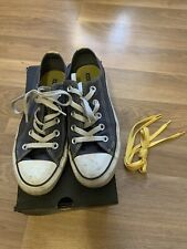 Converse All Star Double Tongue Navy Blue & Yellow Uk Size 4