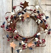 Pip Berry Candle Ring w/ Rusty Stars - Burgundy, Ivory Cream, Navy - 2+ opening