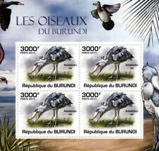 BIRDS Shoebill Whalehead Stork Bird Stamp Sheet #5 of 5 (2011 Burundi)
