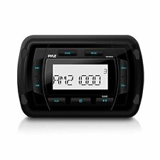 Pyle Marine Bluetooth MP3/USB/AUX Radio Receiver, Water Resistant Stereo