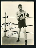 Gene Tunney Boxer Signed Autographed 7 x 9 Photo Heavyweight Boxing Champion
