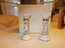 "Lenox Illuminations Pair of Florentine And Pearl Candlesticks,6 1/4""Tall Nib"