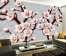 3D Pink Peach Blossom Paper Wall Print Wall Decal Wall Deco Indoor Murals