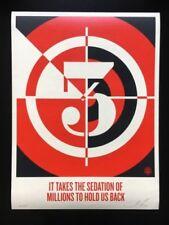 Shepard Fairey-sedativi di milioni di 2012-firmata numerata 18x24-OBEY Giant