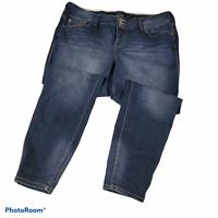Torrid Womens Zip Fly Button Jegging Skinny Jean Dark Wash Plus Size 20