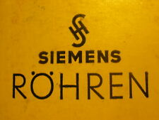 PAIR Vintage Old  SIEMENS E83F 6689 GOLD TUBE BATTERY PORTABLE RADIO RÖHREN