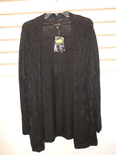 Investments New Womens Black Cardigan Sweater XL