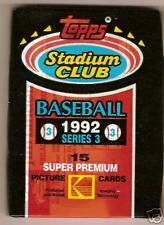 1992 (3) Stadium Club Series 3 Packs