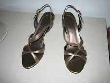 Lovely Sante Bronze Kidskin Sandals 50-3468 Sz 8 1/2 M - New in Box