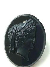 pin brooch as is Antique black Cameo Mourning