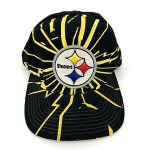 Vintage Steelers Starter Pro Line Shockwave Snapback Hat NFL Shatter Bolts