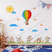 Cheeky Monkey Happy Life Wall Decal Sticker Home Art Decor Kids Children Bedroom