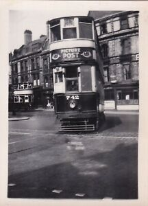 Original real photograph Birmingham 742 tram tramcar circa 1940 vintage