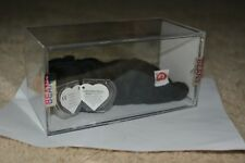 UK EMBROIDERED TUSH MWMT MQ Authenticated TY beanie baby Blackie 2nd 1st gen