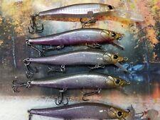 FIVE CUSTOM PAINTED MEGA BIGBASS  JERKBAIT FISHING LURE HOLOGRAPHIC SHADS 5 LURE