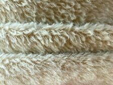 """Vintage German Mohair Fabric Teddy Bears Oatmeal Semi-sparse 50"""" x 55"""" W"""