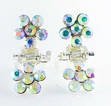 MINI Hair Claw Clip Rhinestone Crystal Hairpin Bridal Wedding Flower Colorful 04