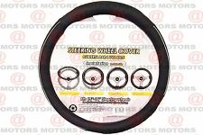 "Black/Chrome Steering Wheel Cover Large 15""-16""/39Cm - 40.5Cm Artificial Leather"