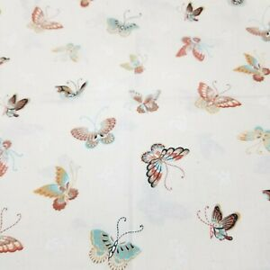 Joan Kessler for Concord Fabrics Butterlies Print Cotton Fabric 1 yard Butterfly
