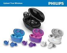 Philips SHB2505 Truly Wireless Earbuds w/Portable Charging Case - Choose Color!