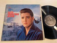 Elvis Presley Elvis' Christmas Album LP RCA Mono Color Army Photo Ad Back VG+!!!