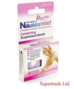 Sea Band Seaband Mama Acupressure Wrist Bands For Morning Sickness Pink - 1 Pair