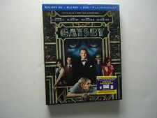 The Great Gatsby 3D (Blu-ray/DVD, 2013, 2-Disc) NEW w/lenticular slipcover