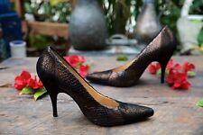 BOTTEGA VENETA Snakeskin Leather Pump Shoes Size 8B Made in Italy