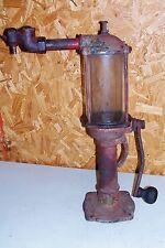 Antique Bennett Model 387 Oil Pump Dispenser Gas Filling Station Old Glass No.